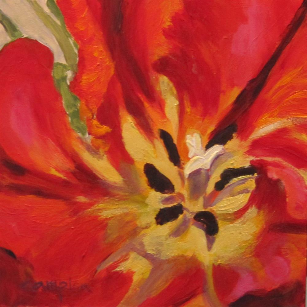 """""""Peek Inside"""" original fine art by Diane Campion"""