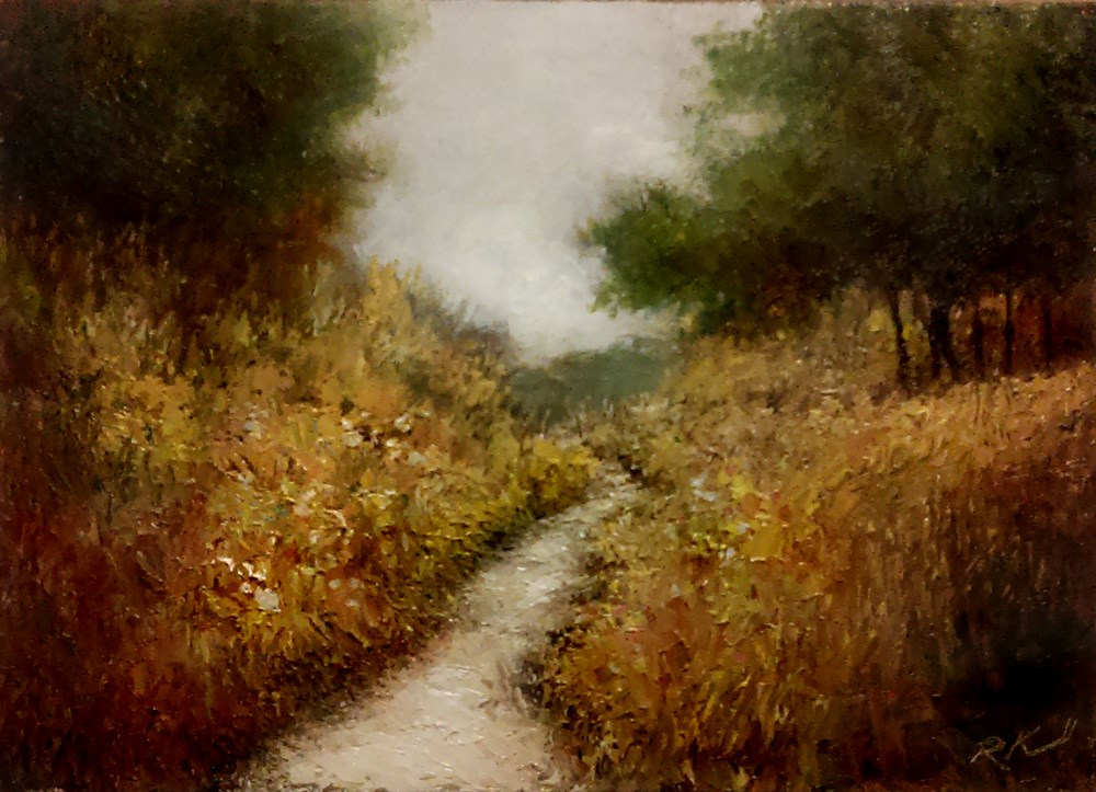 """Endless Trail"" original fine art by Bob Kimball"