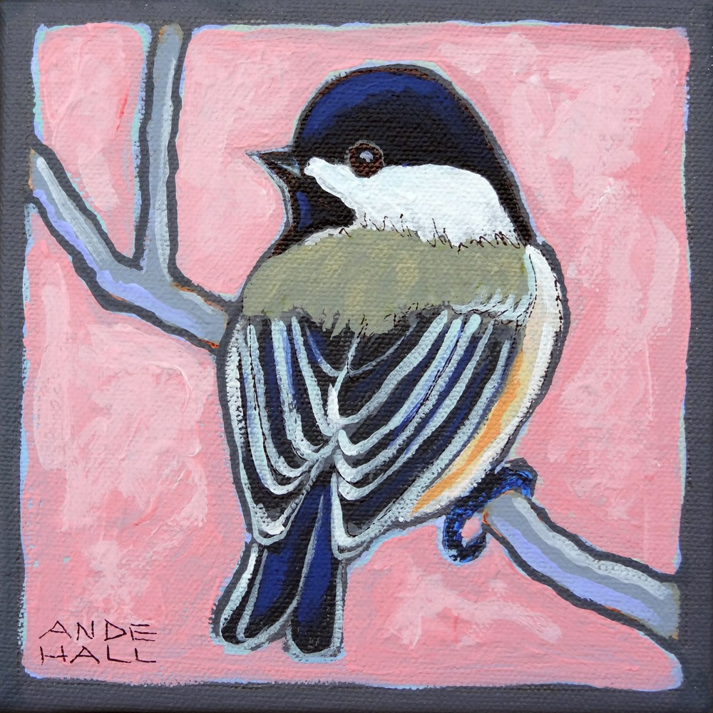 """Boom-Chicka-Dee"" original fine art by Ande Hall"