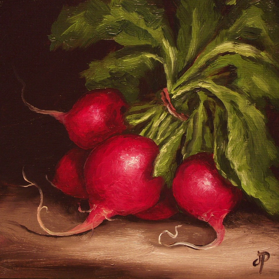"""Bunch of Radishes #3"" original fine art by Jane Palmer"
