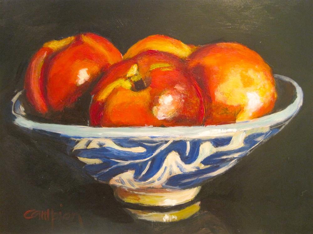 """419 Nectarines"" original fine art by Diane Campion"