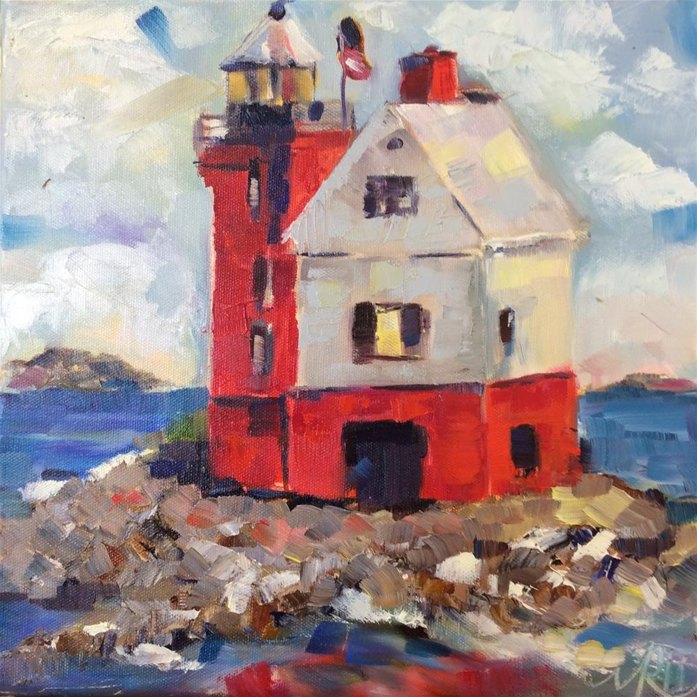 """Lighthouse"" original fine art by Molly Rohrscheib Hathaway"