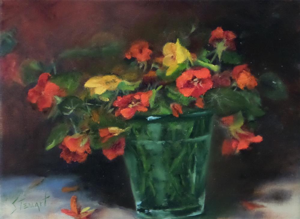 """""""A Glass of Cheer"""" original fine art by Kris Stewart"""