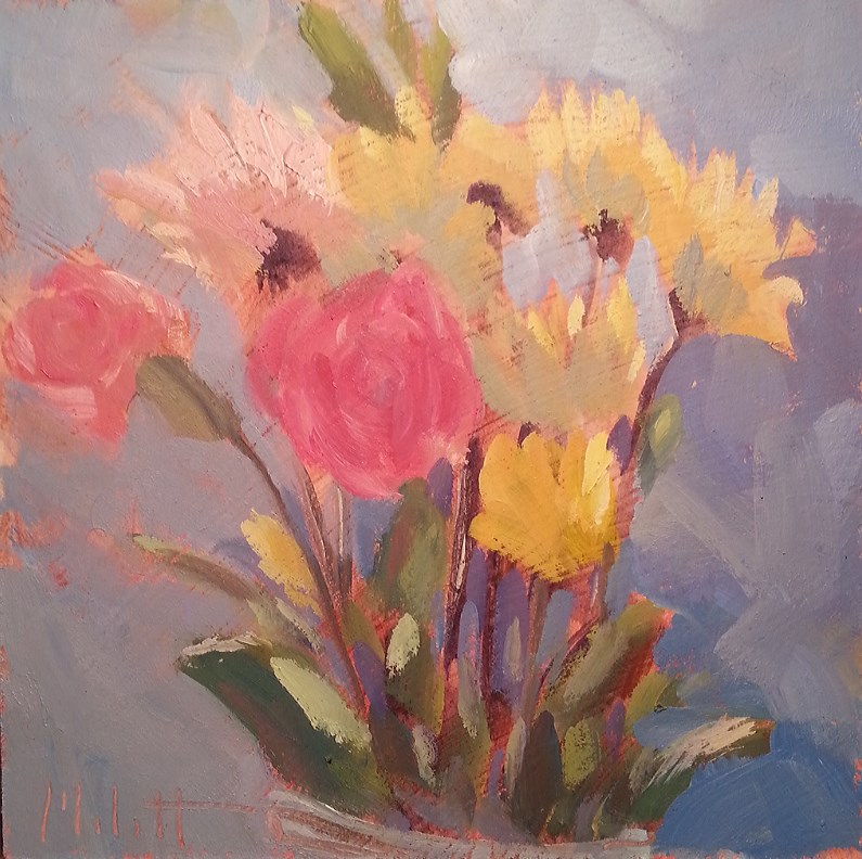 """Floral Bouquet Original Daily Oil Painting Impressionism"" original fine art by Heidi Malott"