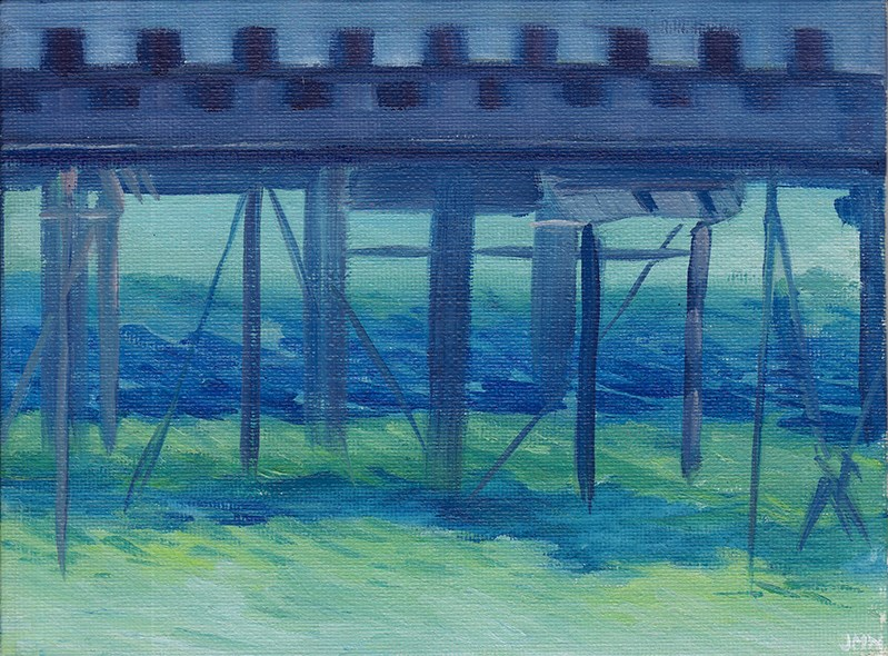 """An Impression of Ryde Pier"" original fine art by J M Needham"