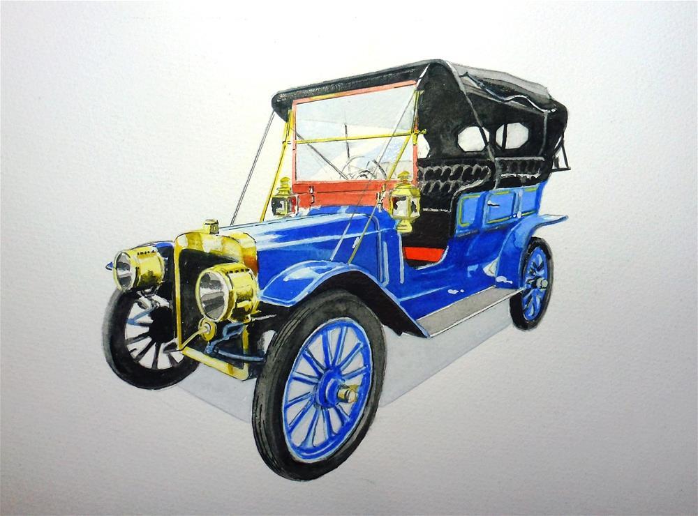 """""""1907 Ford Model K"""" original fine art by John Monney"""