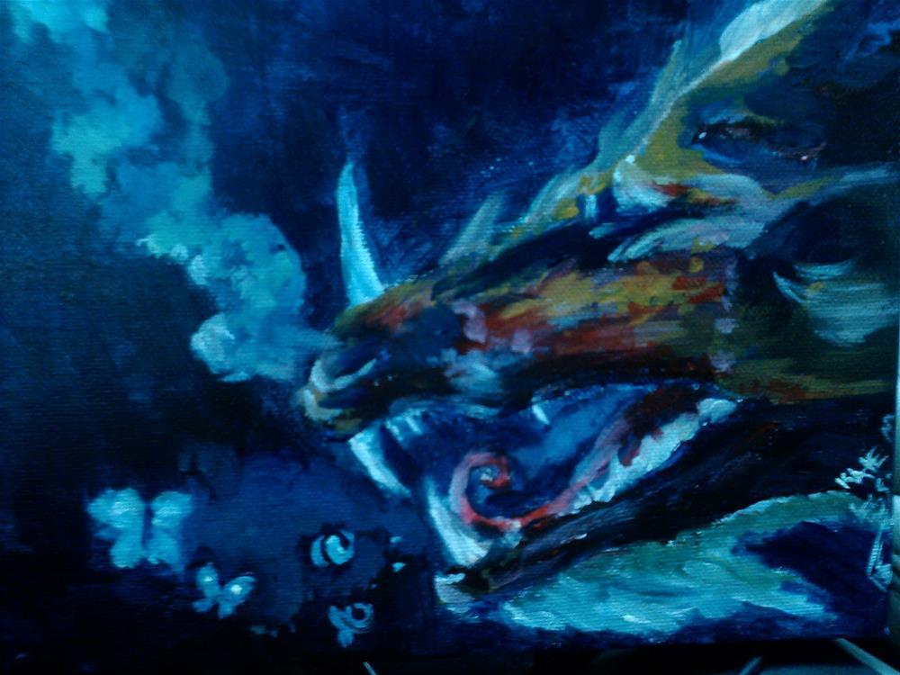 """Coughing up Butterflies"" original fine art by Kate Less-Madsen"