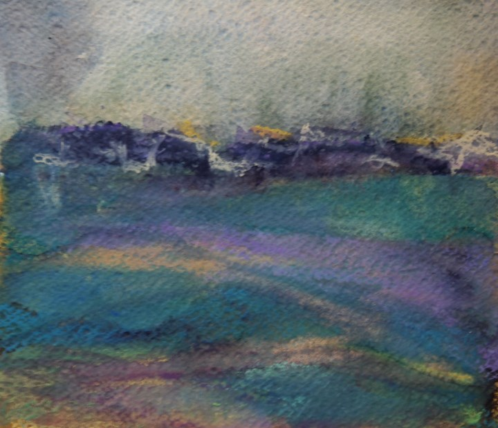 """Green Hills"" original fine art by Amy Bryce"
