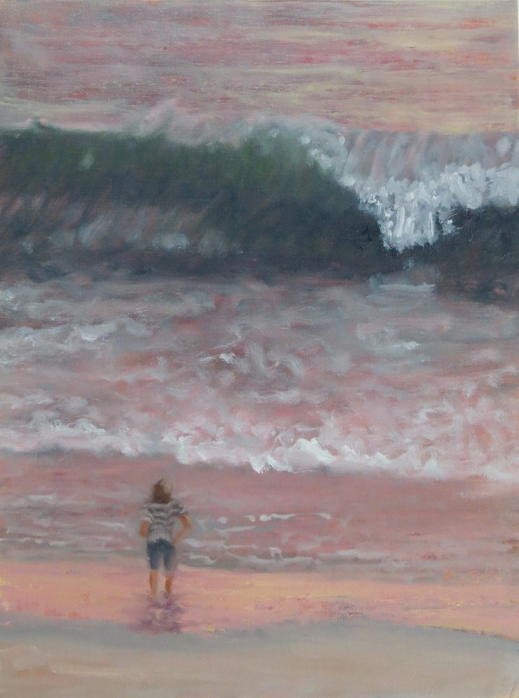 """Give Me a Break, at Sunset"" original fine art by Richard Kiehn"