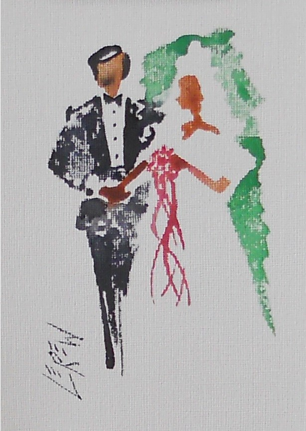 """Serendipity Blot Figure Sketch #13-10-07"" original fine art by Larry Lerew"