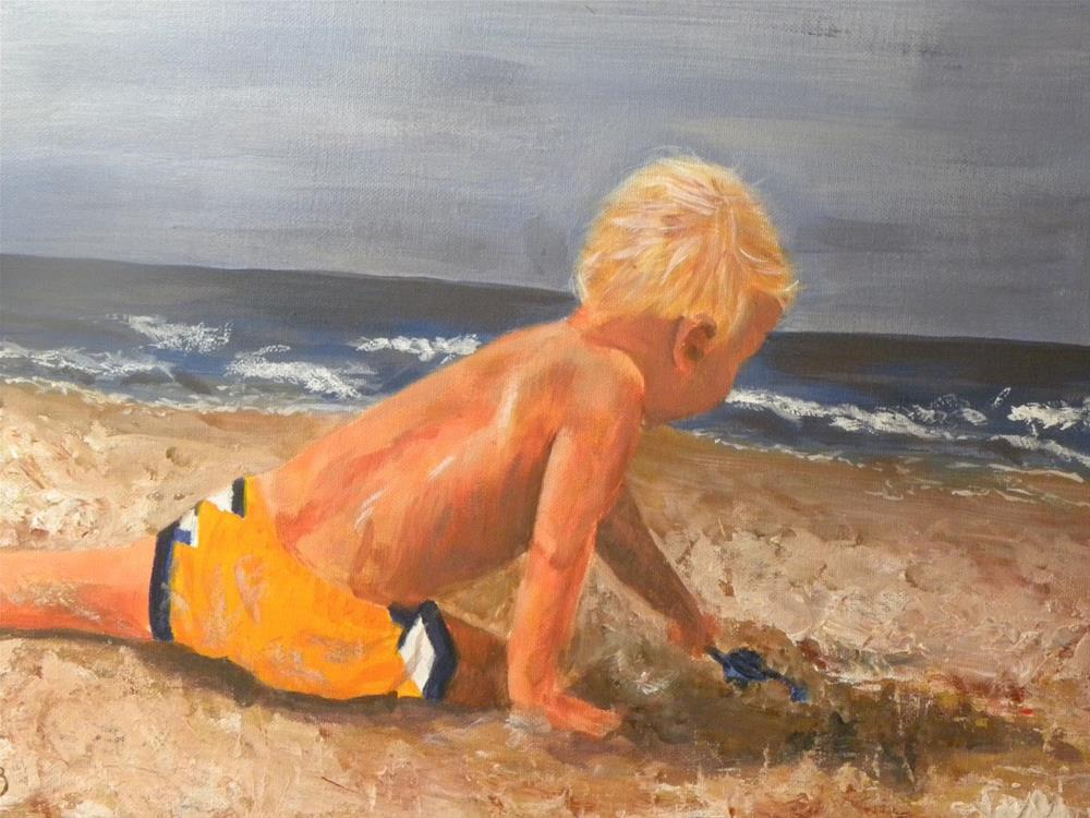 """Beach Baby"" original fine art by cheryl buhrman"