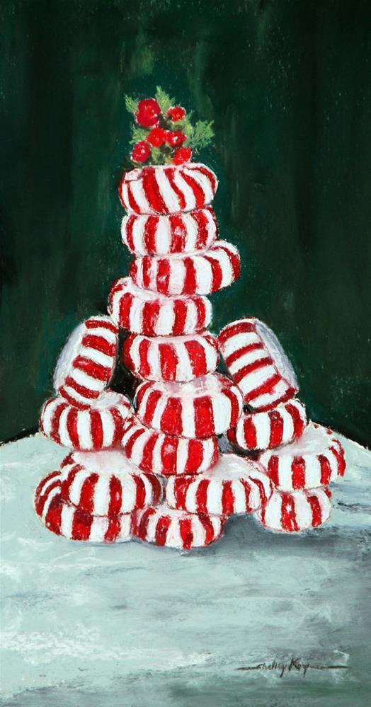 """""""Christmas Tree with Red Dye #3"""" original fine art by Shelley Koopmann"""
