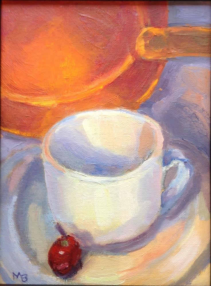 """""""Ready for Breakfast"""" original fine art by Marcia Bergtholdt"""