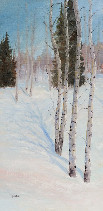"""Snow Shadows"" original fine art by Bonnie Bowne"