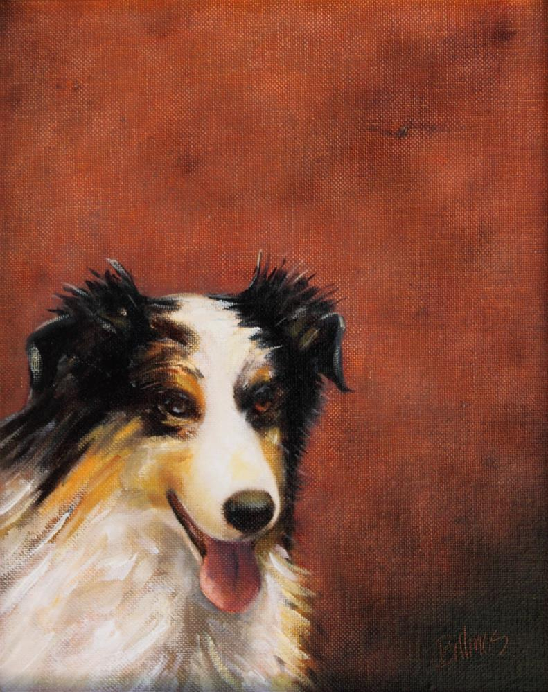 """Australian Shepherd"" original fine art by Susanne Billings"