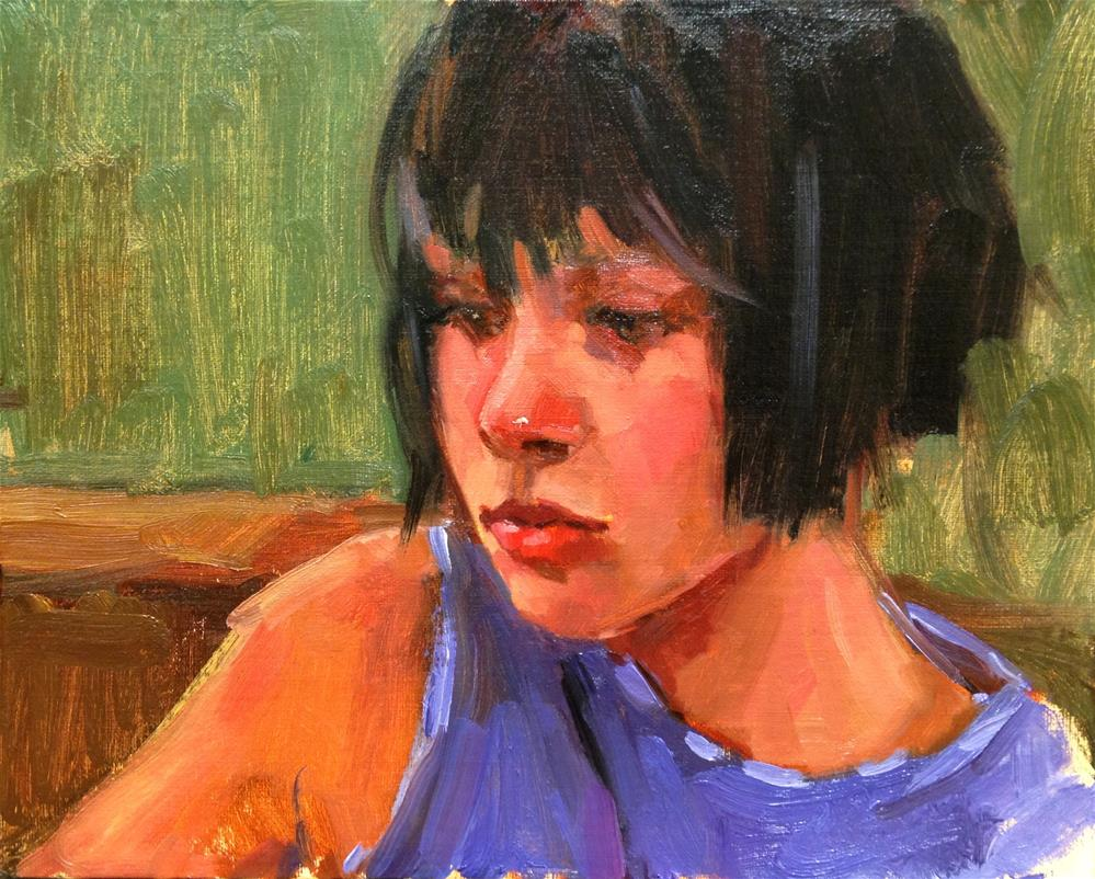 """Deep in Thought"" original fine art by Laurie Johnson Lepkowska"