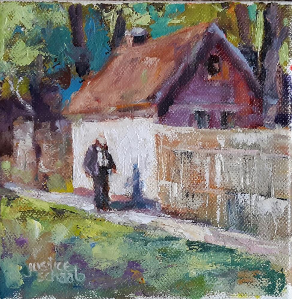 """Take'n A Walk"" original fine art by Rebecca Justice-Schaab"