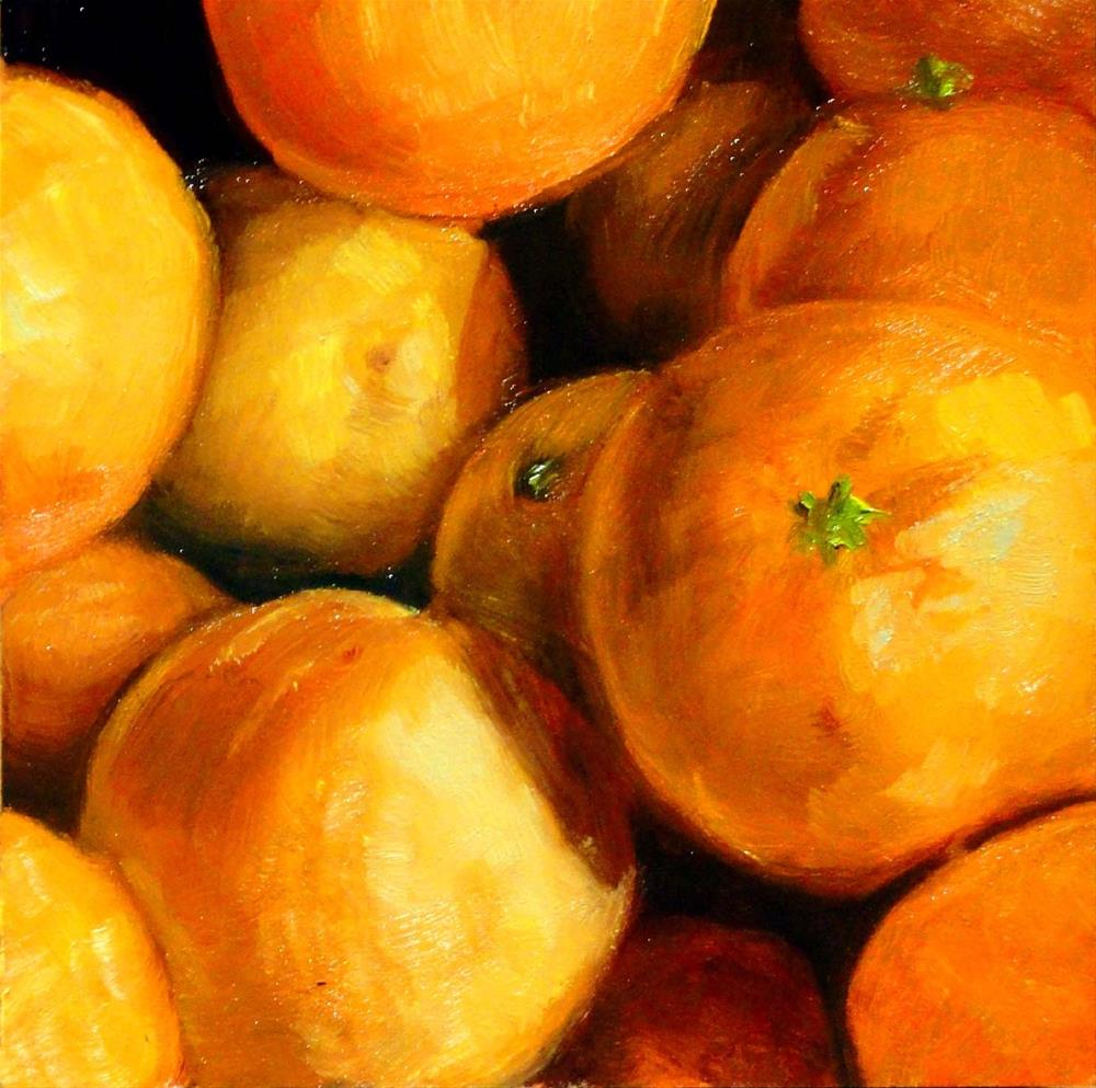 """A Cluster of Clementines"" original fine art by Cietha Wilson"