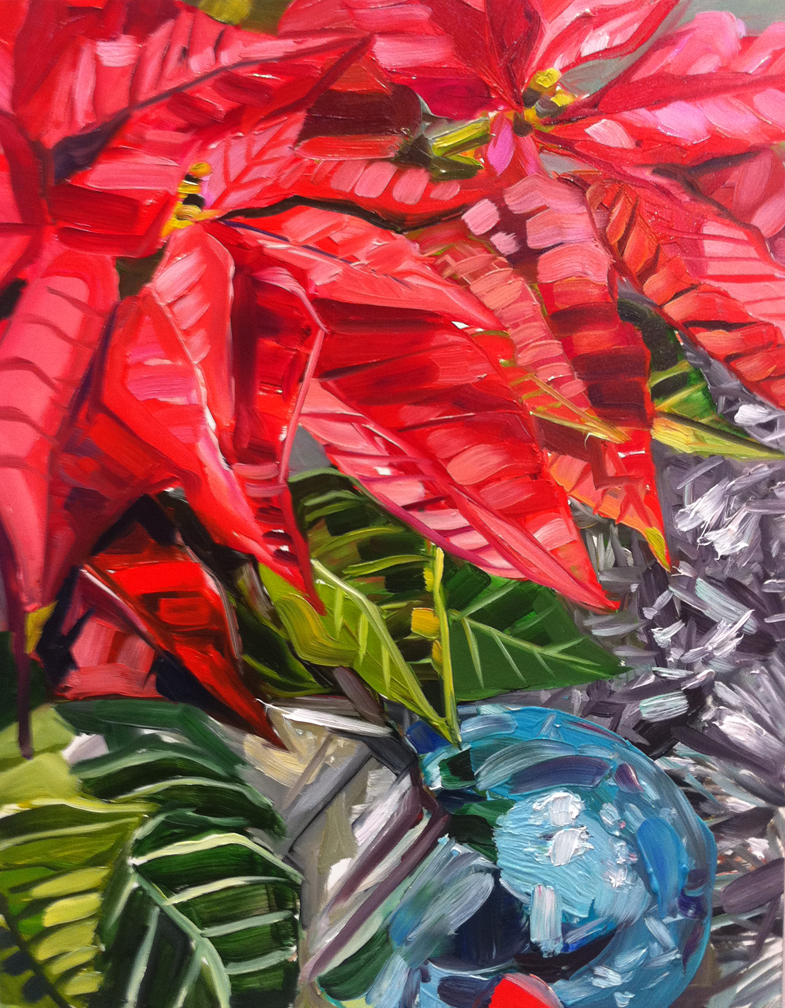 """Poinsettia"" original fine art by Katy O'Connor"