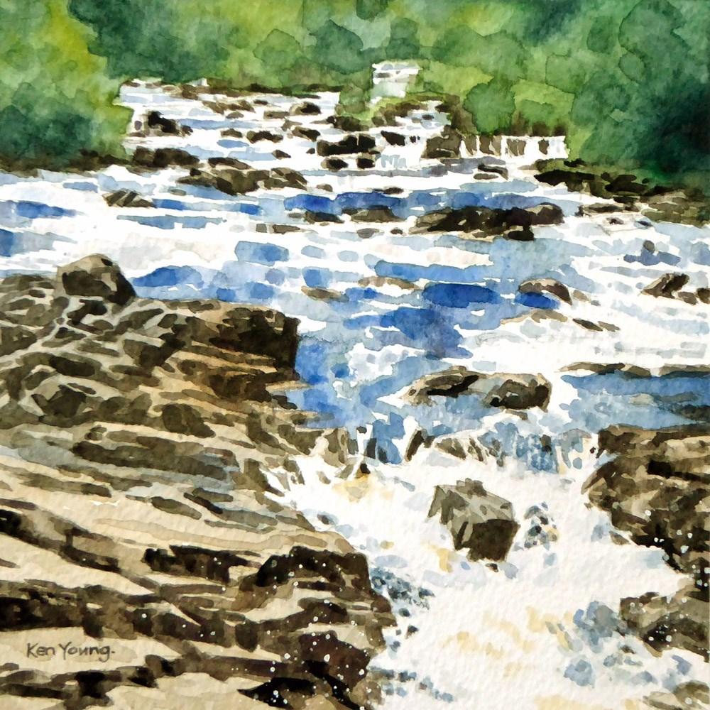 """The Falls"" original fine art by Ken Young"