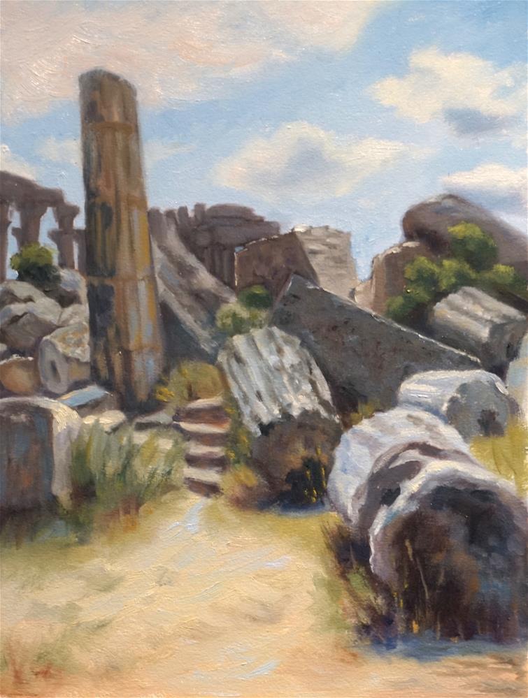 """Castelvetrano, Sicily"" original fine art by Judy Elias"