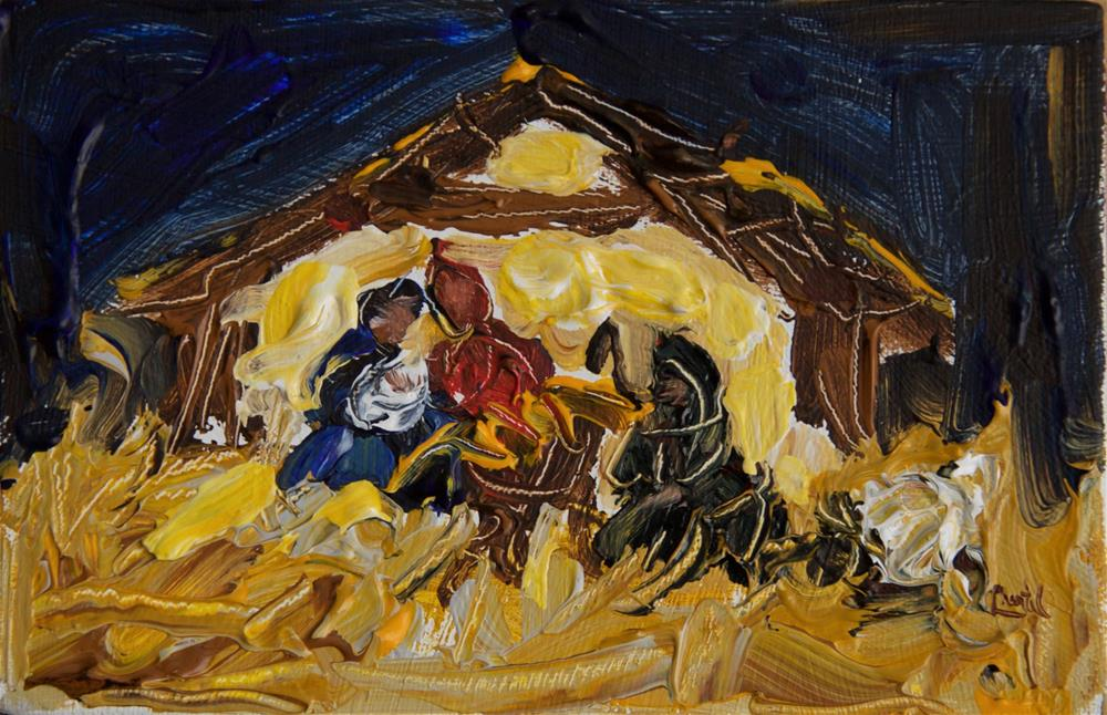 """Nativity"" original fine art by Chantel Barber"