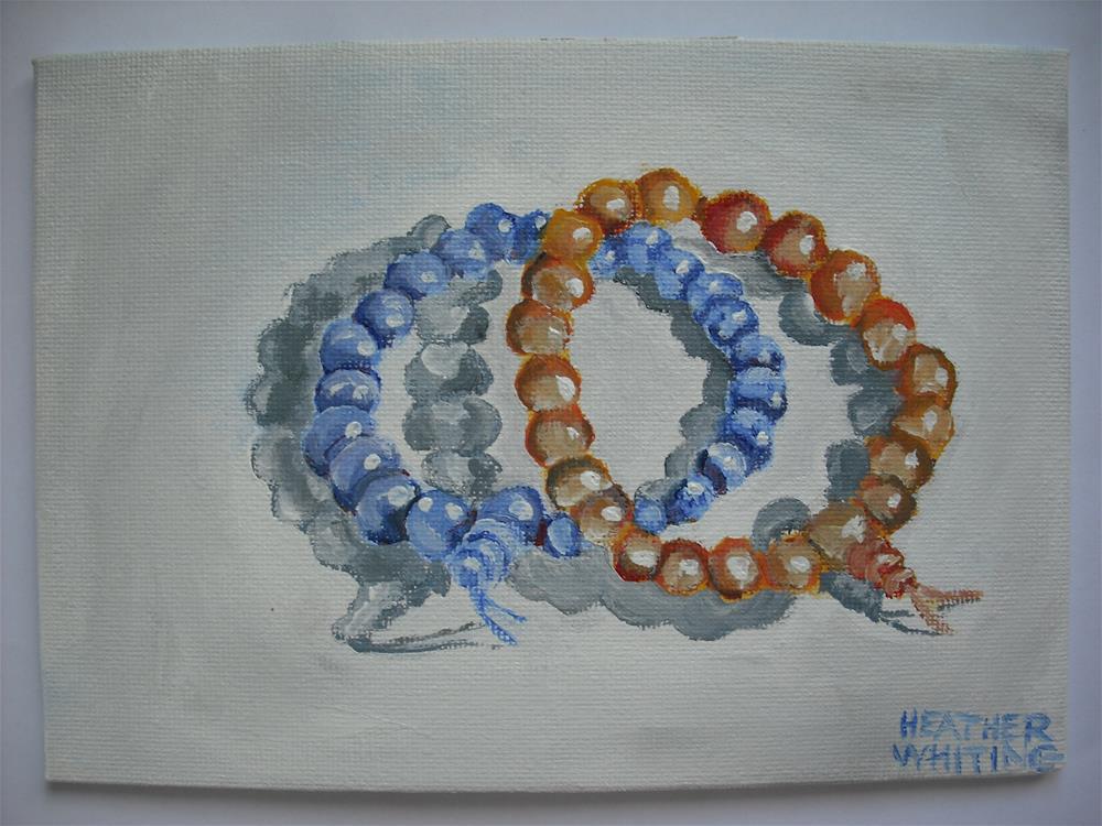 """""""A Brace of Bracelets"""" original fine art by Heather Whiting"""