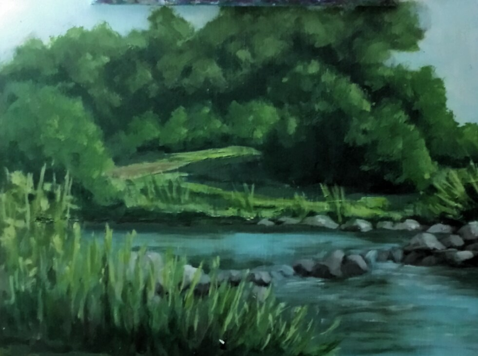 """""""WEST TEXAS OASIS"""" original fine art by Tracy Wilkerson"""