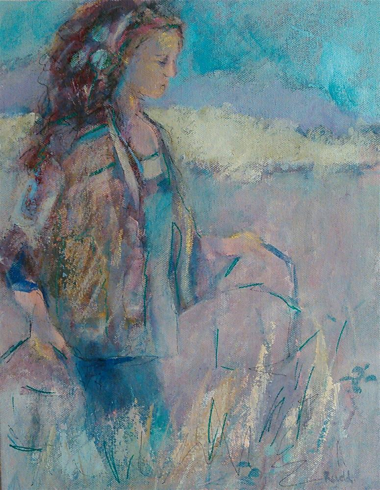 """Garden Girl"" original fine art by Ann Rudd"