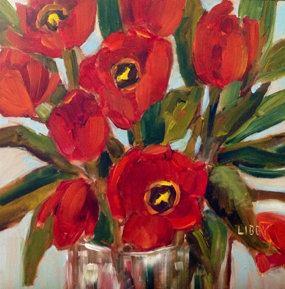 """Red Tulips"" original fine art by Libby Anderson"