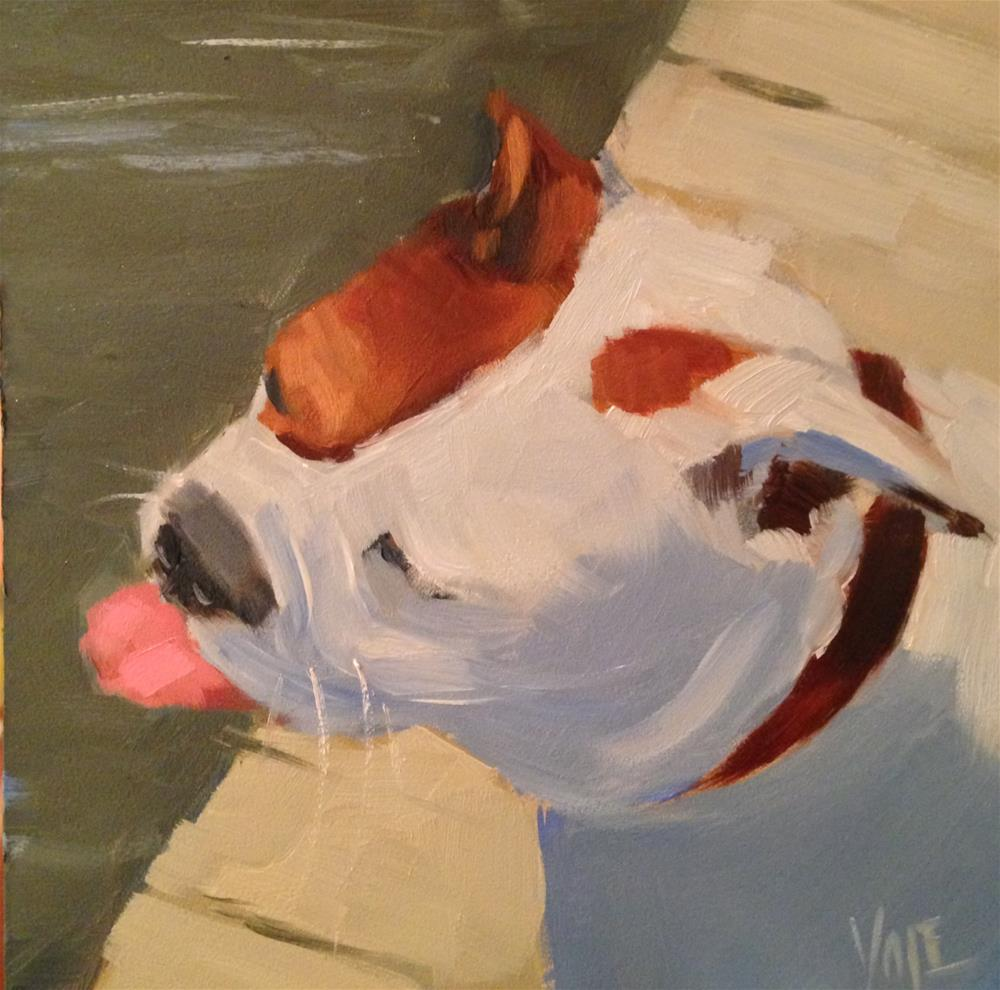 """#34 Dogcation"" original fine art by Patty Voje"