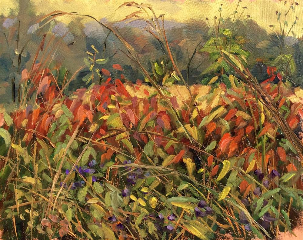 """Astors and Sumac en plein air"" original fine art by Daniel Fishback"