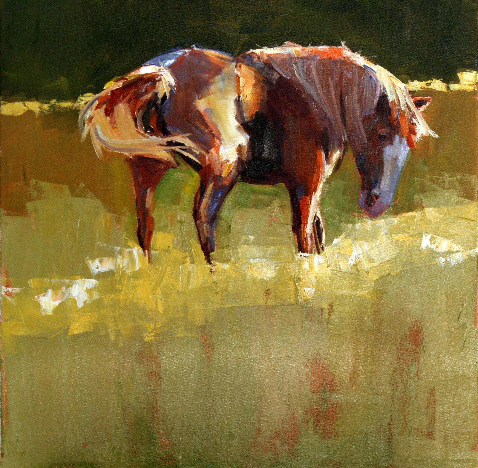 """frisky"" original fine art by Carol Carmichael"