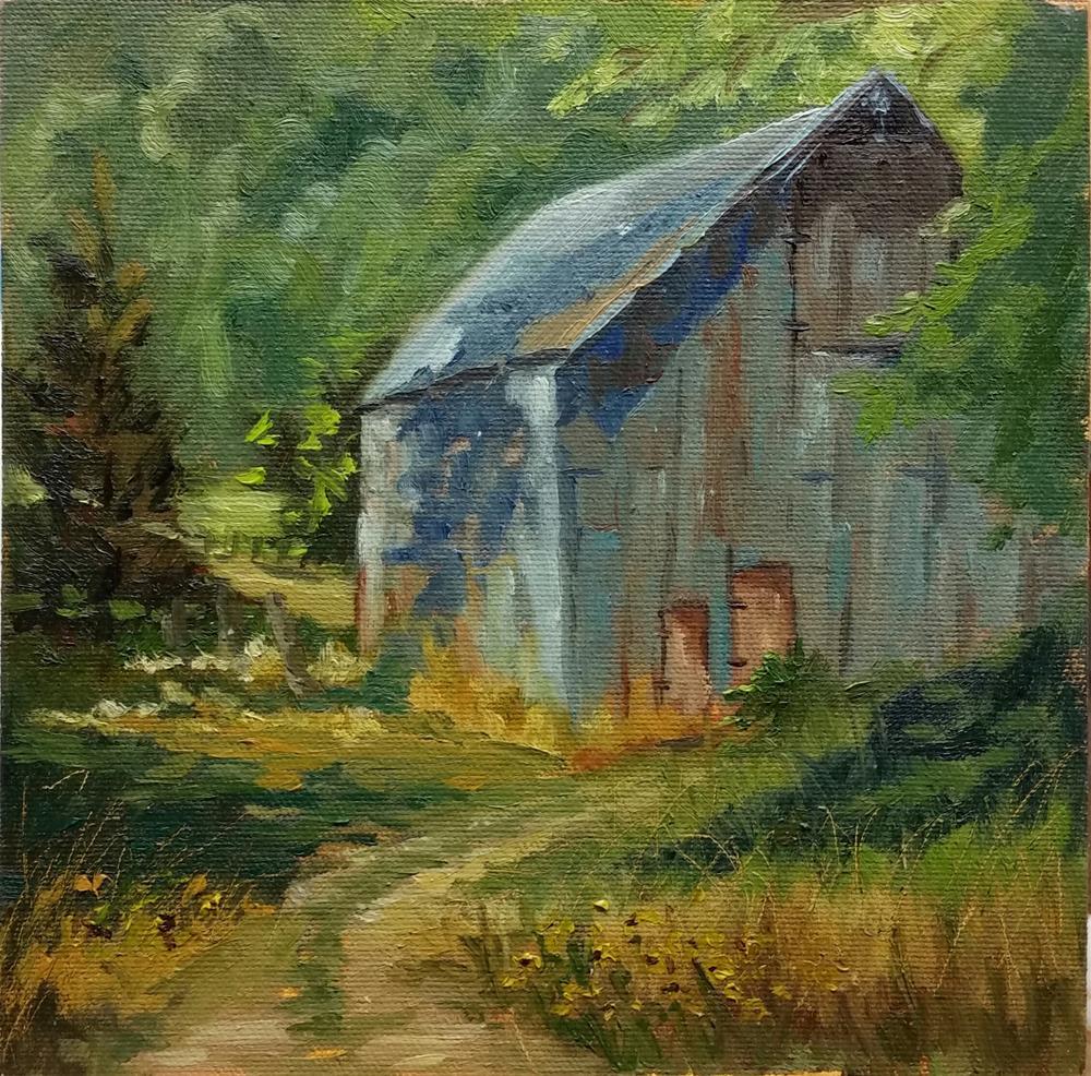 """Gasconade County Barn-en Plein Air"" original fine art by Veronica Brown"