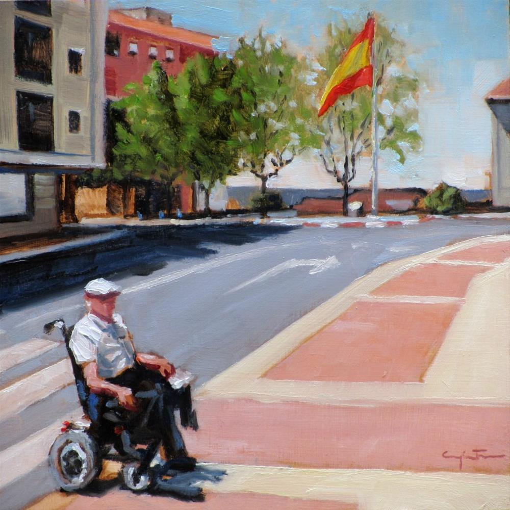 """Un paseo tranquilo"" original fine art by Eduardo Carpintero"