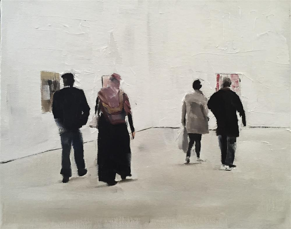 """""""Visitors at The Saatchi Gallery"""" original fine art by James Coates"""