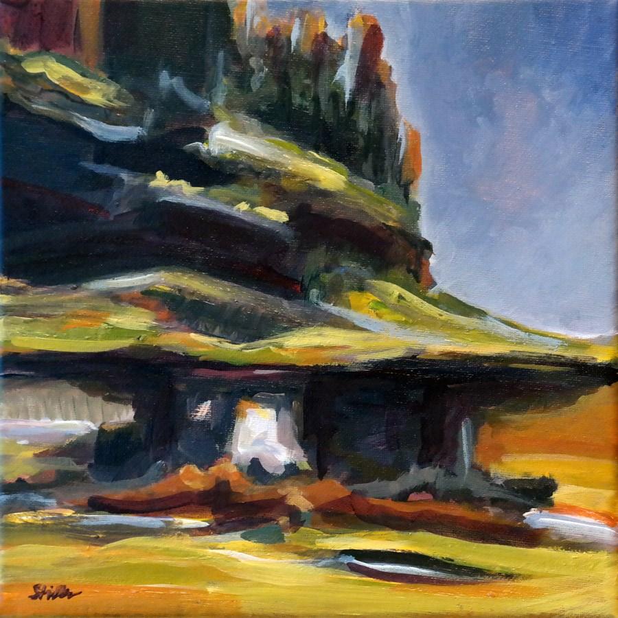 """1239 Fantasy Landscape"" original fine art by Dietmar Stiller"