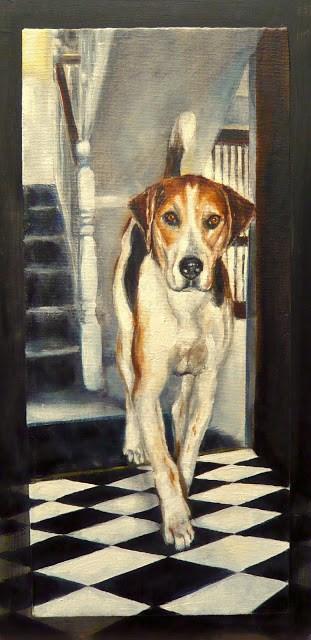 """Skye, walking"" original fine art by Karen Robinson"
