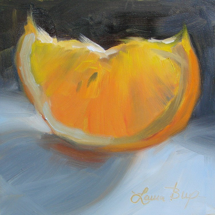 """One Slice - 415"" original fine art by Laura  Buxo"