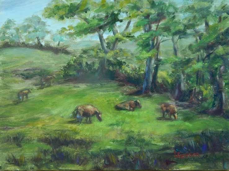 """Pennsylvania Summer"" original fine art by Lina Ferrara"