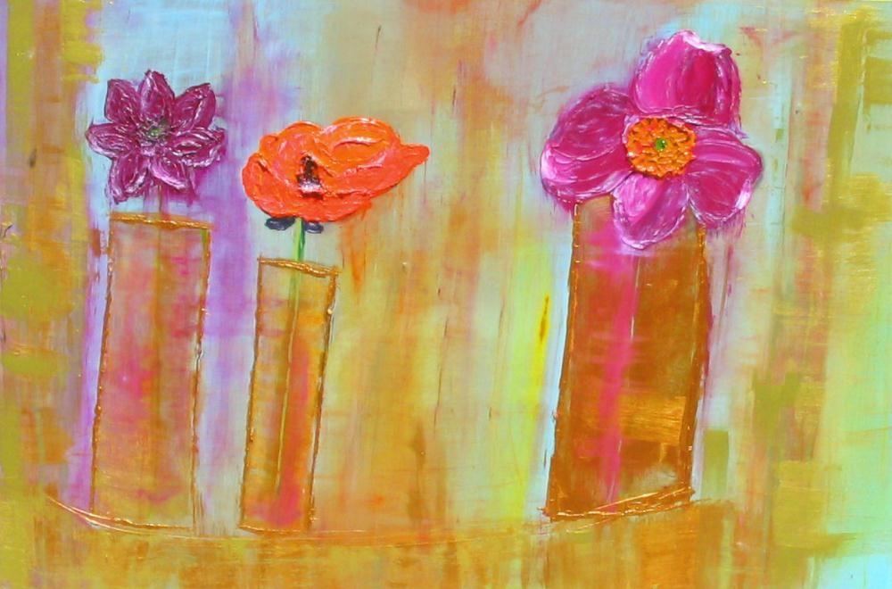 """Summer Blooms"" original fine art by Christy Tremblay"
