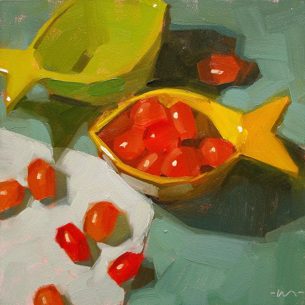 """Go Goldfish"" original fine art by Carol Marine"
