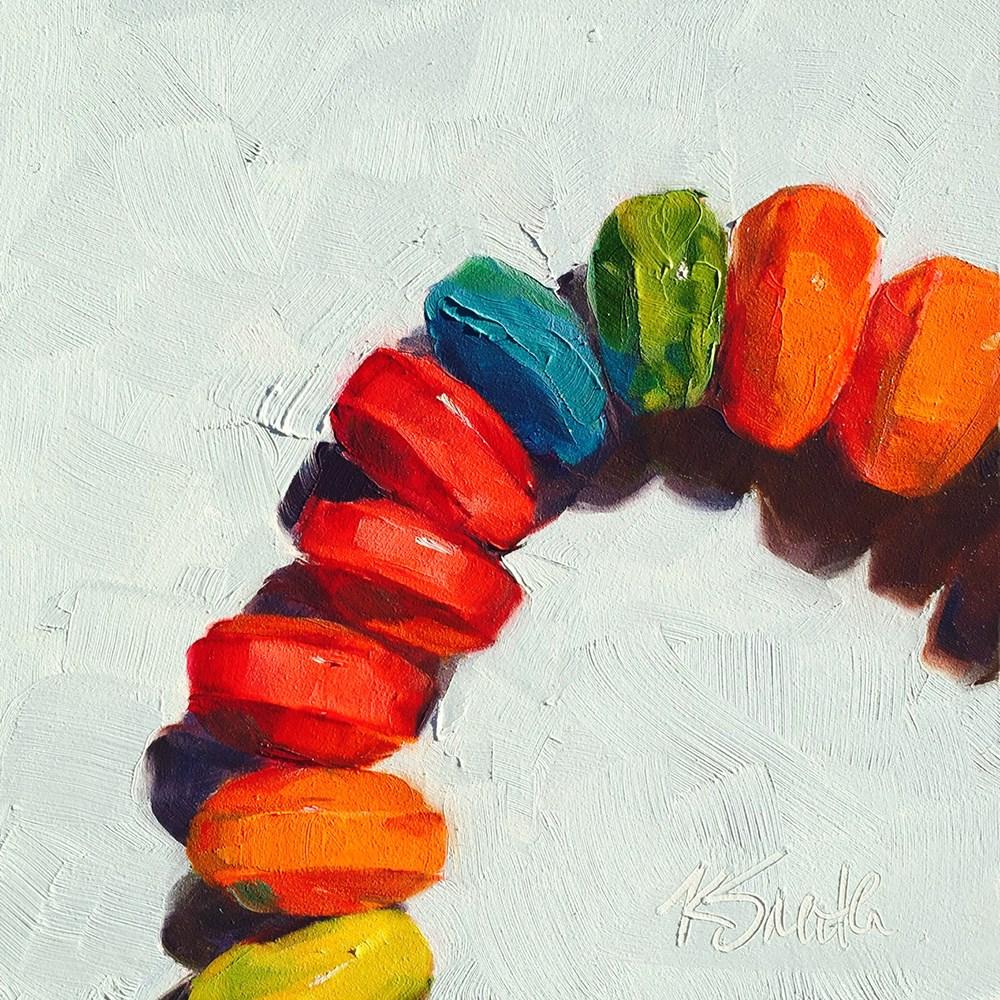 """candy necklace"" original fine art by Kim Smith"