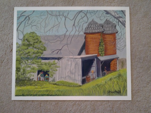 """Anchorage Barn"" original fine art by Elaine Shortall"