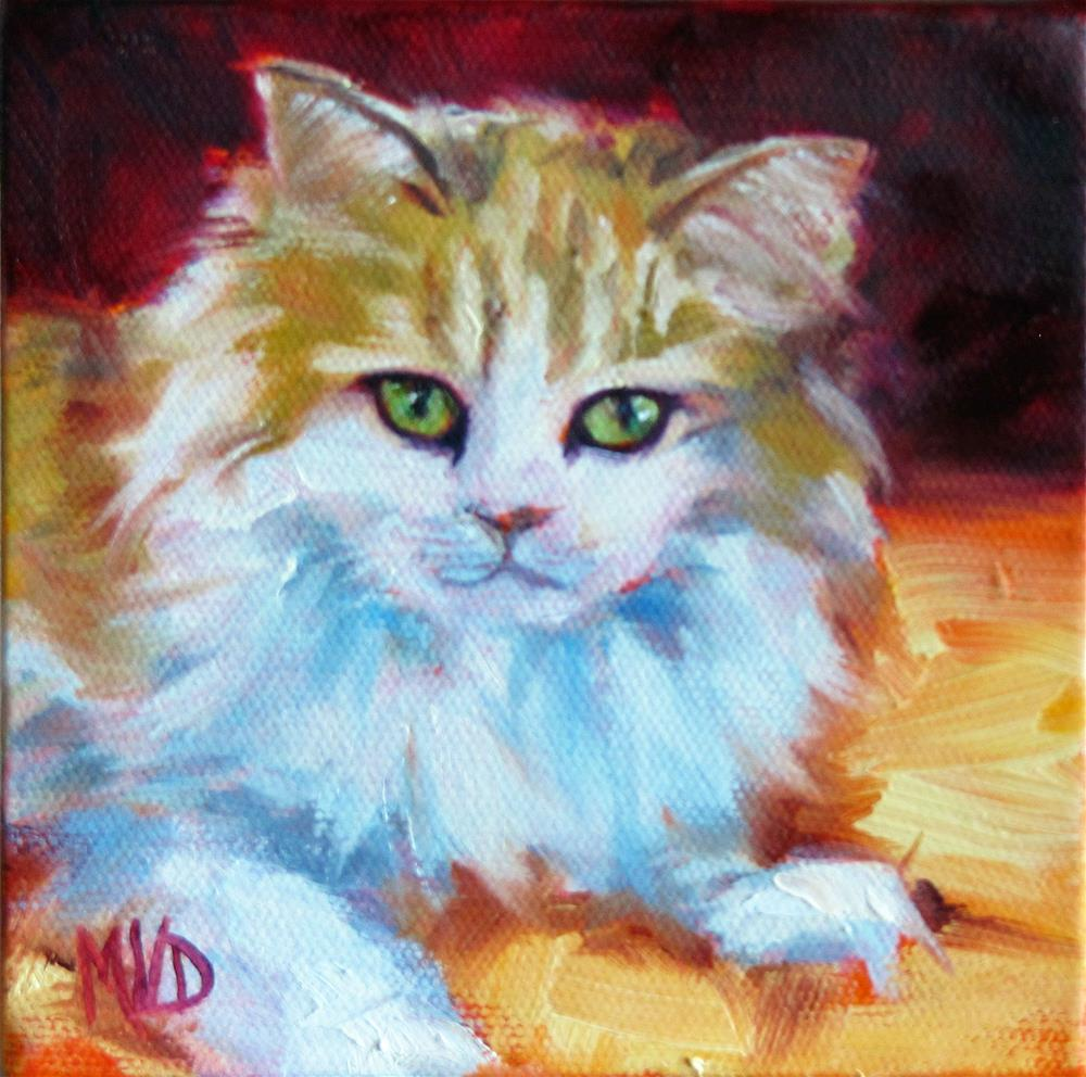"""4 Paws Ragamuffin"" original fine art by Mary Van Deman"