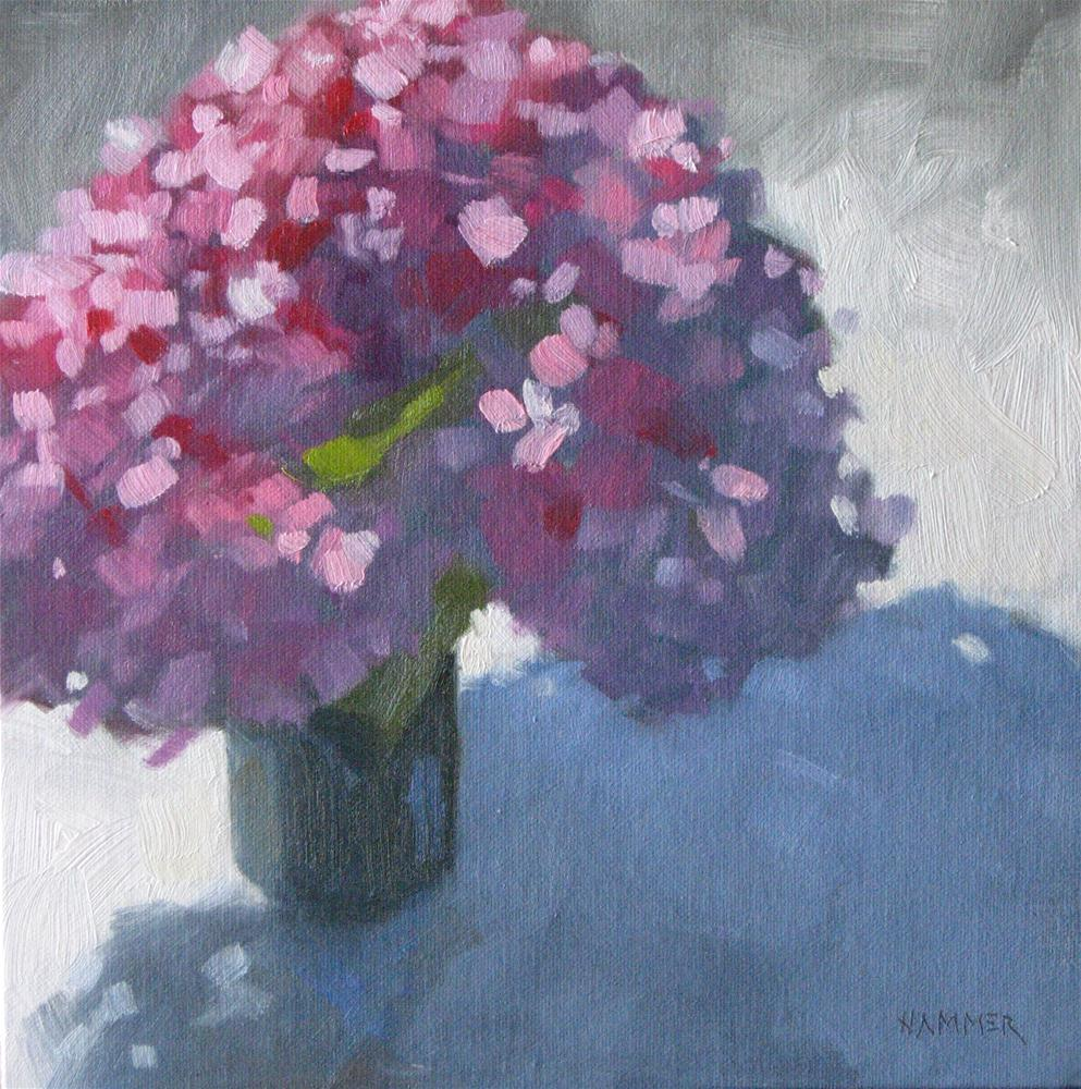 """Pink Hydrangeas"" original fine art by Claudia Hammer"