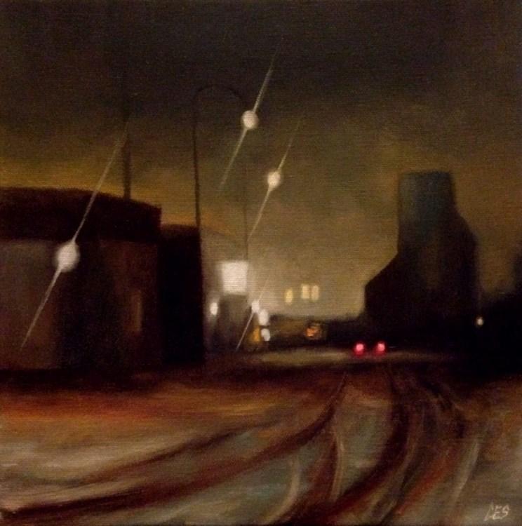 """Railway Ave. Eston Saskatchewan"" original fine art by ~ces~ Christine E. S. Code"