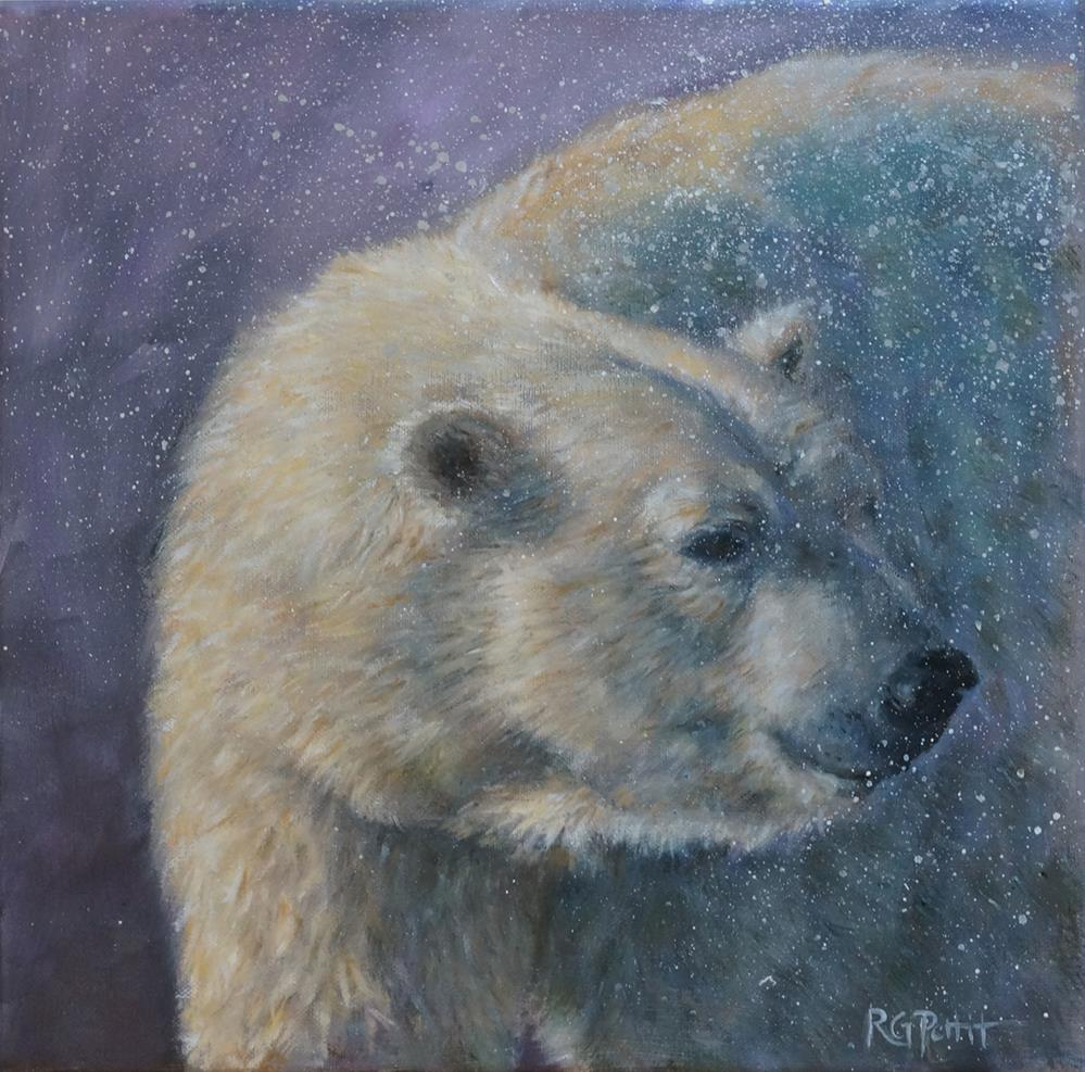 """Polar Bear"" original fine art by Rhea  Groepper Pettit"
