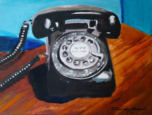 """Phone Home 2"" original fine art by JoAnne Perez Robinson"