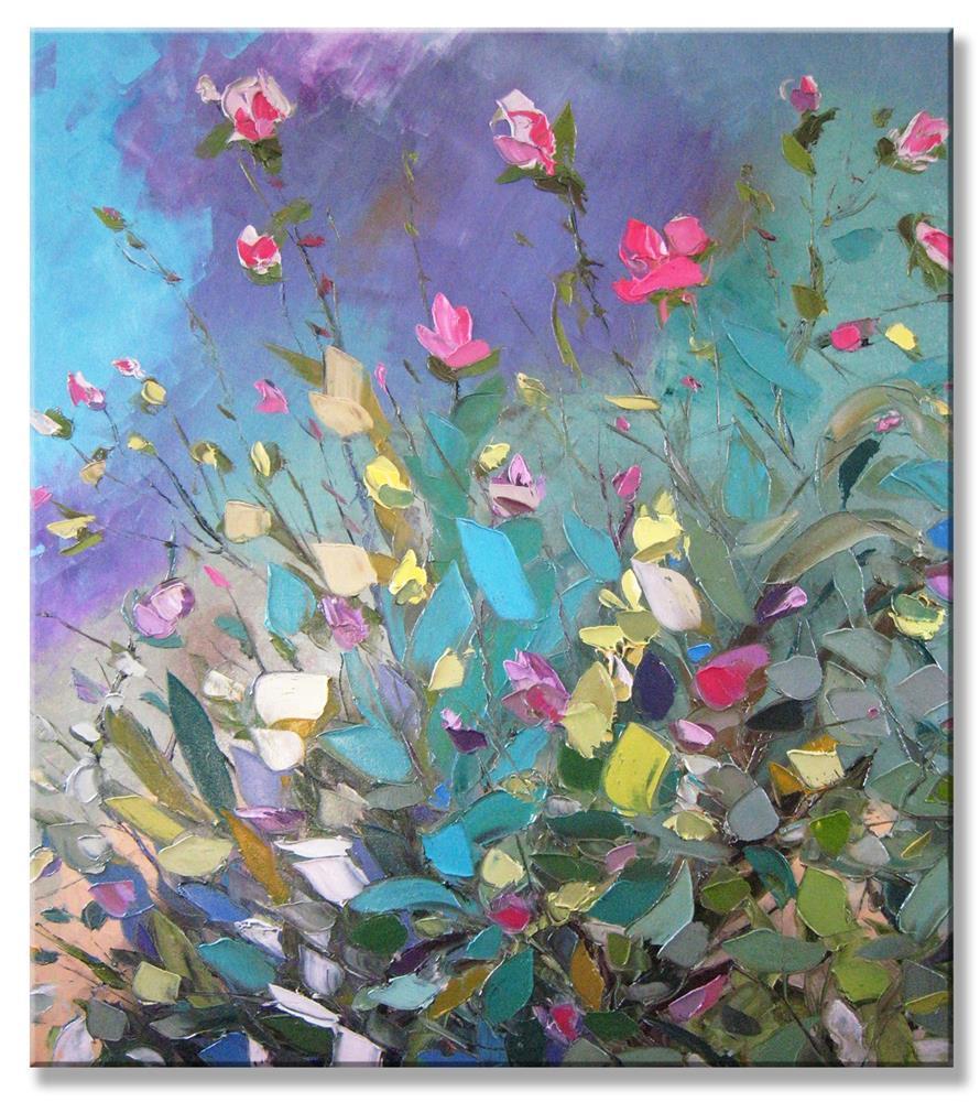 """""""Wild pink briar"""" original fine art by Elena Lunetskaya"""